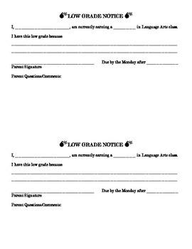 Low Grade Notice
