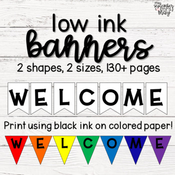 Low Ink Banners for Colorful Classroom Decor