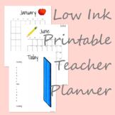 Low Ink Teacher Planner