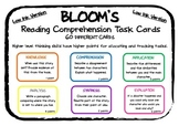 Low-Ink Version of the popular BLOOMS's Reading Task  Cards