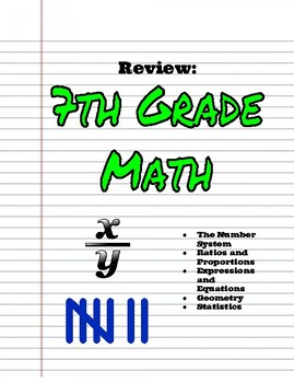 Low Key Math: Review of 7th Grade Skills