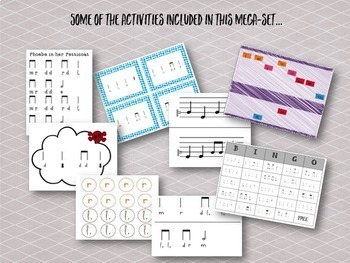 Songs, activities, and games to teach low la {Bundle}