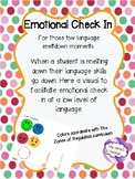 Low Language Emotional Check In