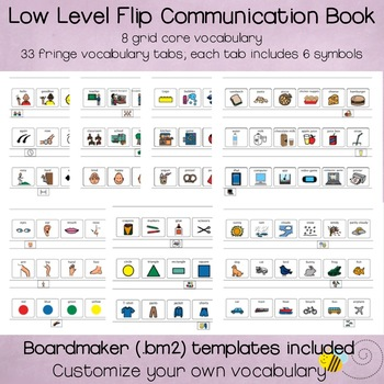 Low Level AAC Flip Communication Book