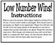 Low Number Wins (TEKS 4.4A)