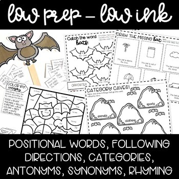 Bat Activities for Speech and Language Therapy