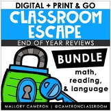 Digital + Print & Go Escape Room BUNDLE: Full Content Review | Distance Learning