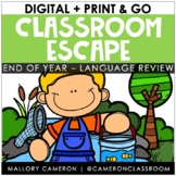 Print & Go Escape Room: End of Year - Language Arts Review