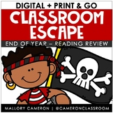 Low Prep Classroom Escape Room: End of Year - Reading Review