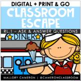 Print & Go Classroom Escape Room: Reading - Ask & Answer Q