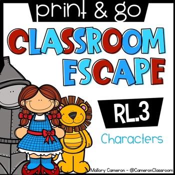 Print & Go Escape Room: Characters (RL.3)