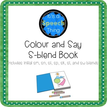 Low Prep Colour and Say Books: /s/ blends