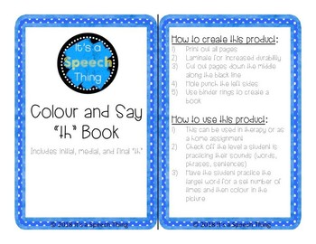 Low Prep Colour and Say Books: th