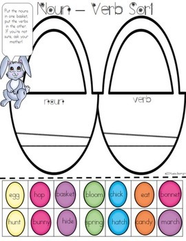 Low-Prep ELA Easter Centers:  A Tisket, A Tasket.  What's in your Basket?