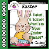 Low-Prep ELA Easter Centers:  A Tisket, A Tasket.  What's