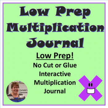 Low Prep Interactive Multiplication & Division Journals