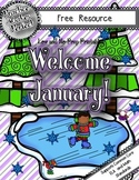Low-Prep January Craft, Math, and Language Arts Activities:  Welcome January