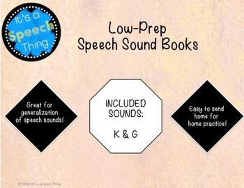 Low Prep K & G Sound Books
