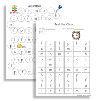 Low Prep Letter and Letter Sound Fluency Practice