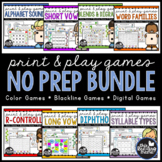Print & Play Phonics Games BUNDLE