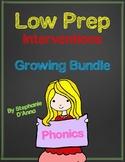 Low Prep Phonics Interventions Growing Bundle