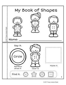 Low Prep Shape Activity Book Button Themed