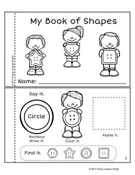Low Prep Shape Activity Book Button Themed