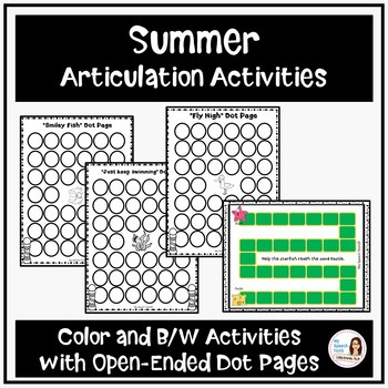 Low-Prep Summer Articulation Bundle