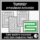 Low-Prep Summer Articulation Activities