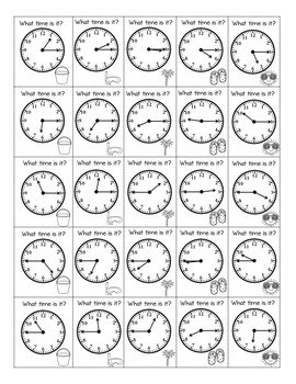 Low Prep Time to the Hour, Half Hour, Quarter Hour Review Game