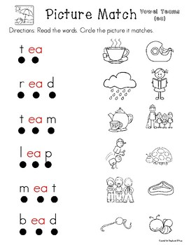 Low Prep Vowel Teams Interventions-Long E (ea/ee/ey)
