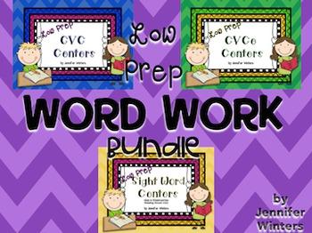 Low Prep Word Work Bundle