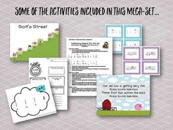 Songs, Activities, and games to teach low sol {Bundle}