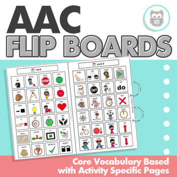 Low-Tech, Core Vocabulary Based, AAC Flip Boards