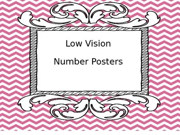Low Vision Number Posters  FREE