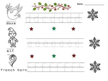 Lower Alphabet Tracing Christmas Practice Worksheets/Booklet