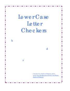 Lower Case Alphabet Checkers