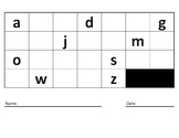 Lower Case Alphabet Fill In