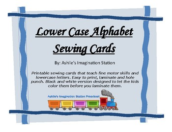 Lower Case Alphabet Sewing Cards