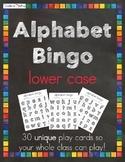 Lower Case Bingo Alphabet Playing Cards