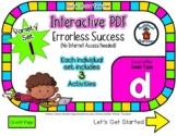 Lower Case D Set #1 - Interactive PDF - 3 Digital Activiti