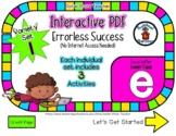 Lower Case E Set #1 - Interactive PDF - 3 Digital Activiti
