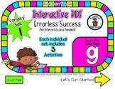 Lower Case G Set #1 - Interactive PDF - 3 Digital Activiti
