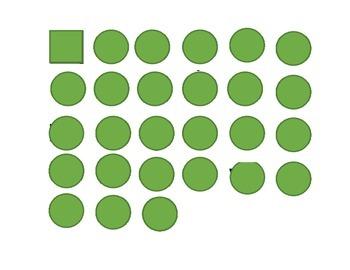 Lower Case Green Dot Letters