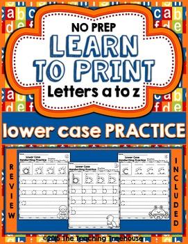 Lower Case Handwriting