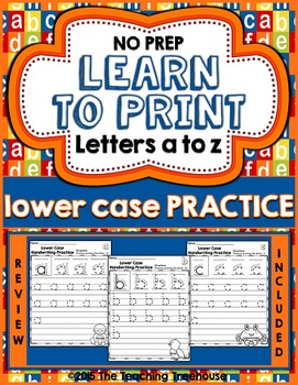 Lower Case Handwriting