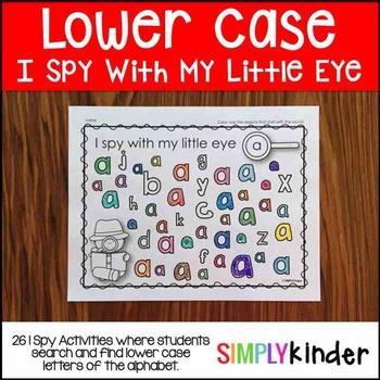 Lower Case I Spy Activities