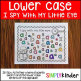 Lower Case I Spy Activities