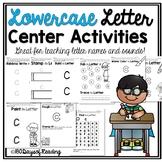 Multisensory Lowercase Letter Alphabet Center Activities {