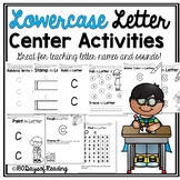 Multisensory Lowercase Letter Alphabet Center Activities {